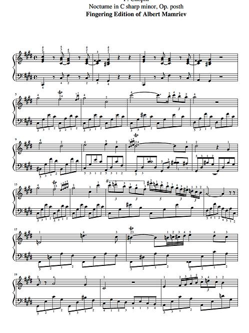 001. F. Chopin. Nocturne in C Sharp Minor, Op.Posth