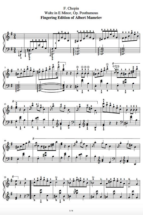 F. Chopin. Waltz in E minor, Op. Posth