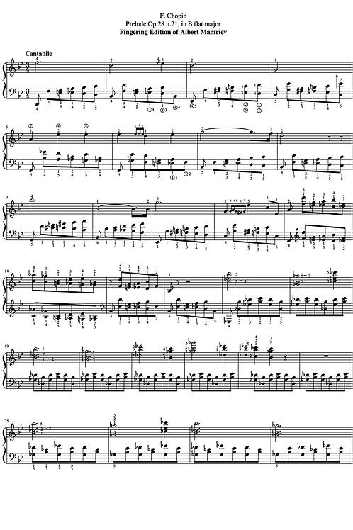 021. F. Chopin. Prelude Op.28 n.21