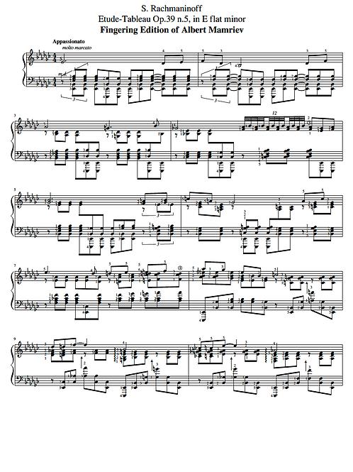 014. Rachmaninoff. Etude-Tableau Op.39 n.5