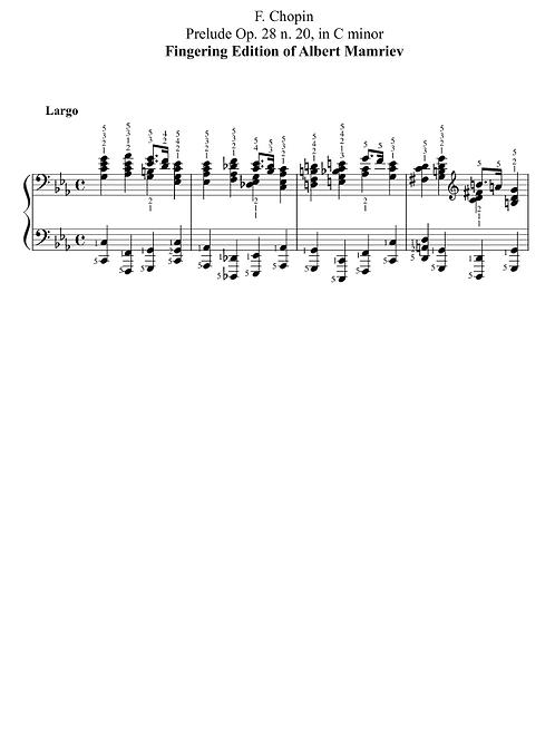 020. F. Chopin. PreludeOp.28 n.20