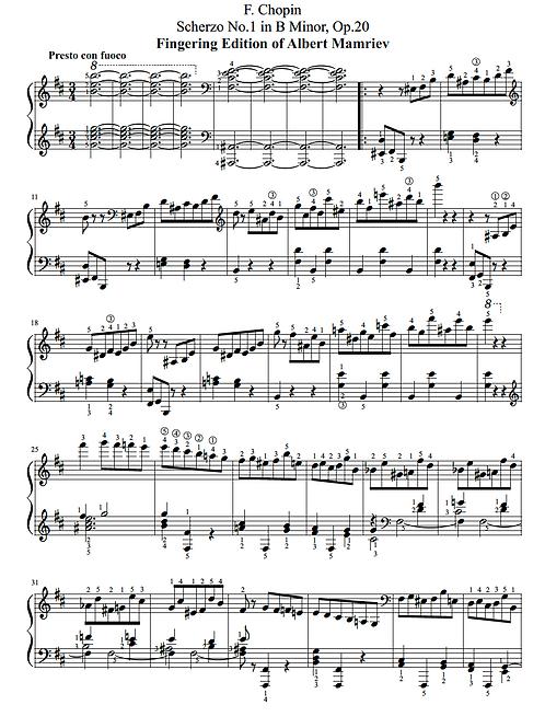 001 F. Chopin. Scherzo n.1