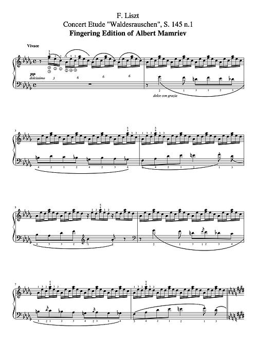 """F. Liszt. Concert Etude """"Waldesrauschen"""""""