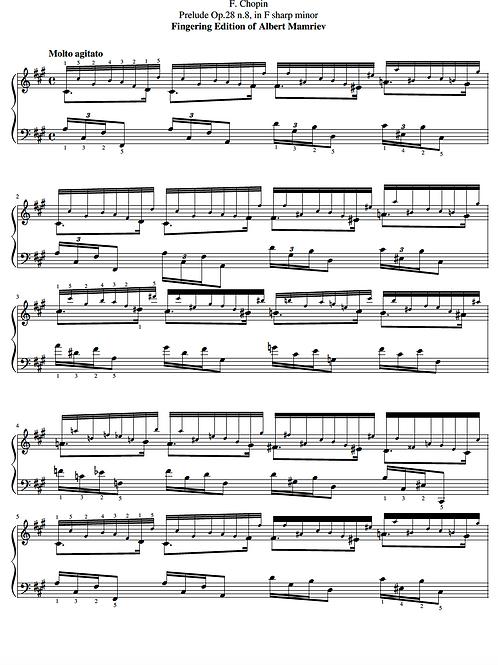 008. F. Chopin. Prelude Op.28 n.8