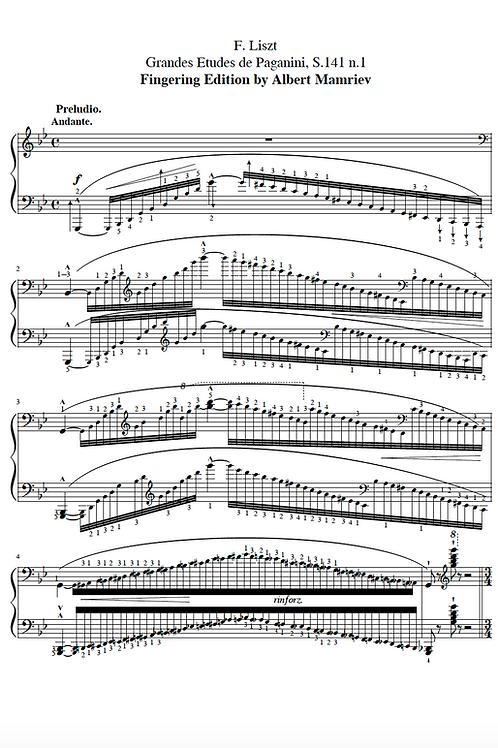 F. Liszt. Grandes Etudes de Paganini, S.141 no.1