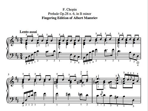006. F. Chopin. Prelude Op.28 n.6