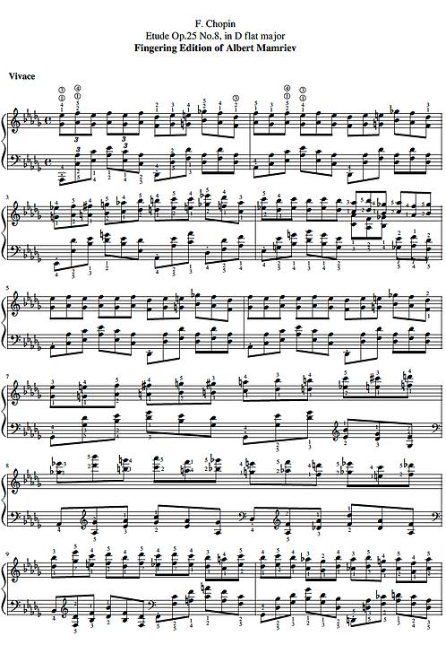 020. F. Chopin. Etude Op.25 n.8