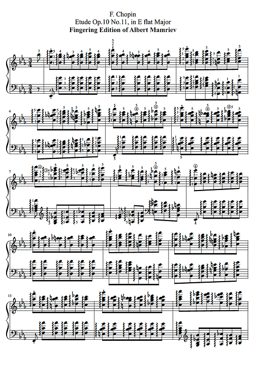 011. F. Chopin. Etude Op.10 n.11