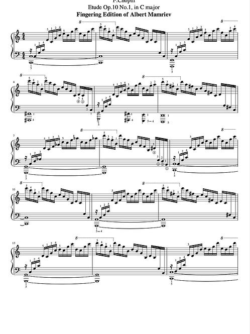 F. Chopin. Etudes op.10