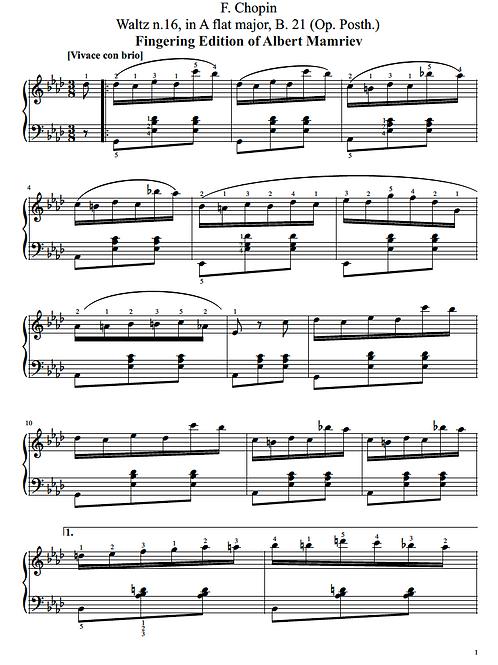 F. Chopin. Waltz n.16 in A flat major