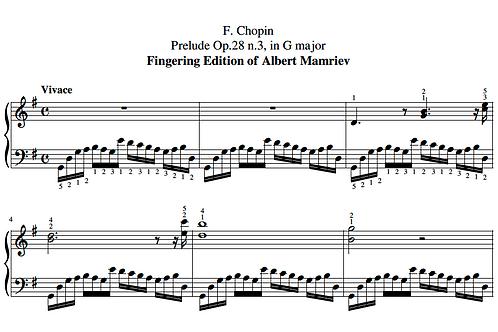 003. F. Chopin. Prelude Op.28 n.3