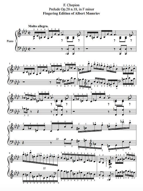 018. F. Chopin. Prelude Op.28 n.18
