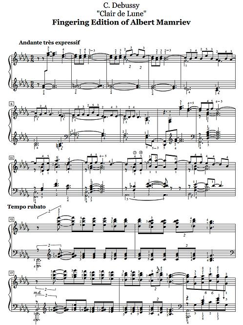 C. Debussy. Clair de Lune