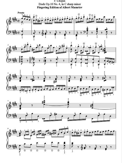 004. F. Chopin. Etude Op.10 n.4