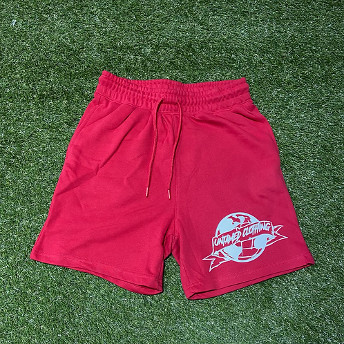 Red French Terry Shorts