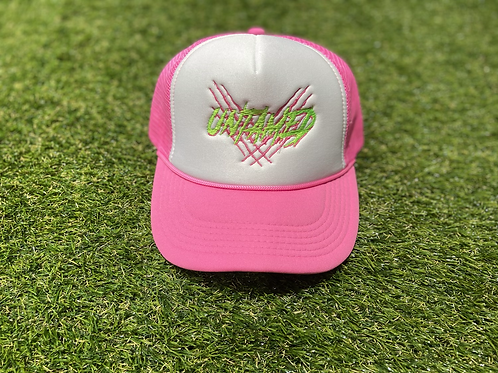 Trucker Hat Green & Pink