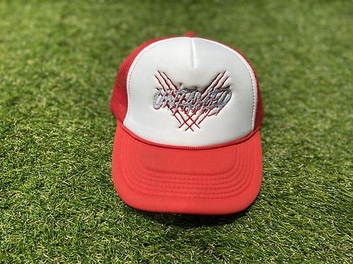 Trucker Hat White & Red