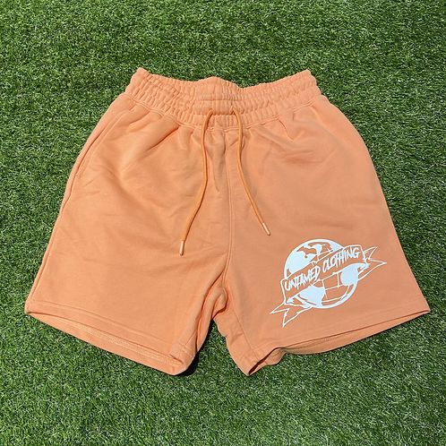 Peach French Terry Shorts
