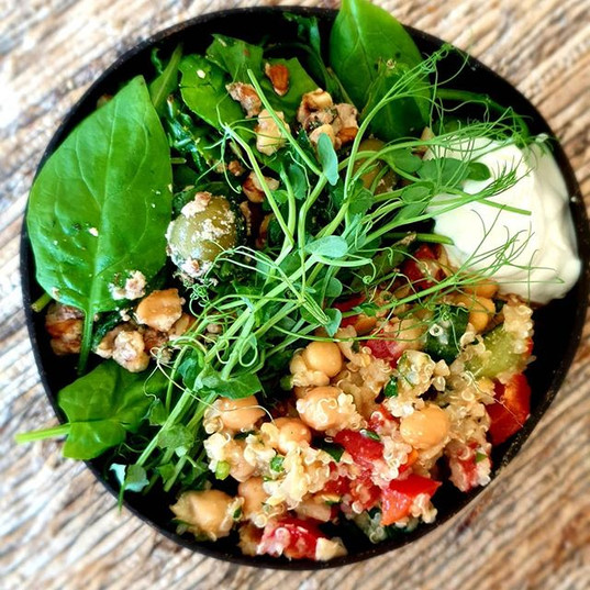spinach, walnut n feta cheeze salad and