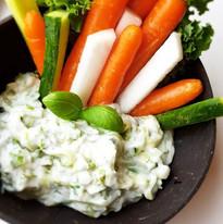 Tzatziki med grønnsaker