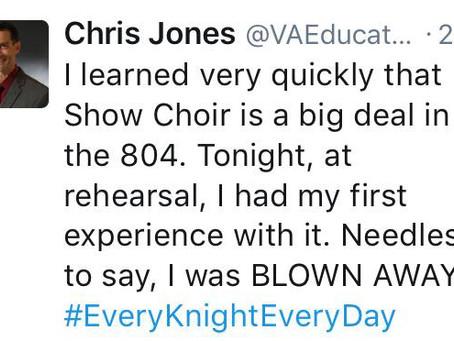 Introducing Show Choir to Our Principal!