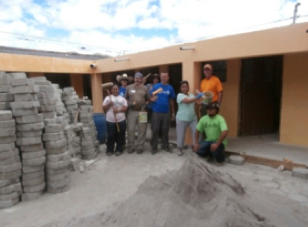 Some Of The Missionaries Who Worked On Construction