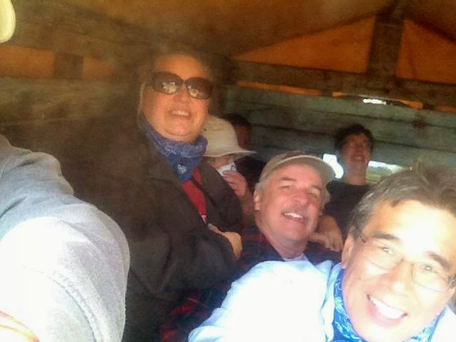"""""""You can easily fit 12 people in the back of a pickup when needed, but boy is it a dusty ride."""" - Lauri Morris"""