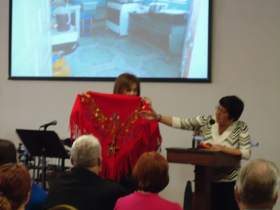 Presenting Gift At First Christian Church, Plano, Texas
