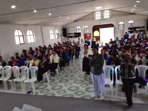 Congregation Enjoying(?) The Group's Singing