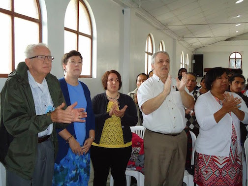 Part Of The Oregon Group (Duane, Irene, Alex, Doug, Bernice) Clapping With The Congregation