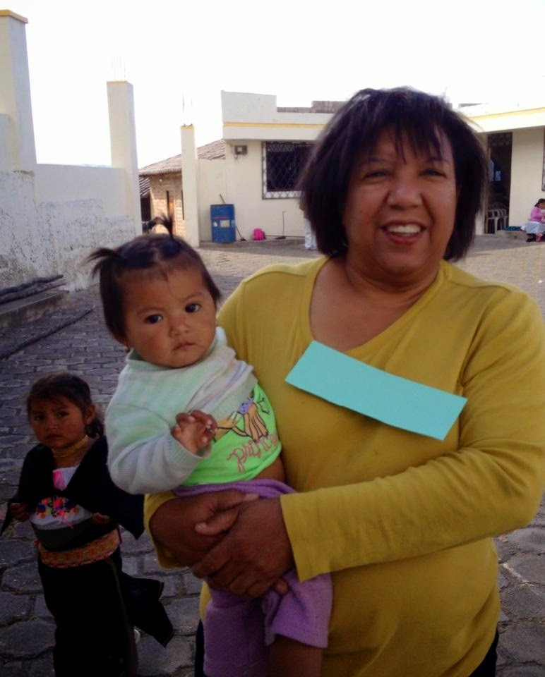 Bernice Rivera Holding A Cutie