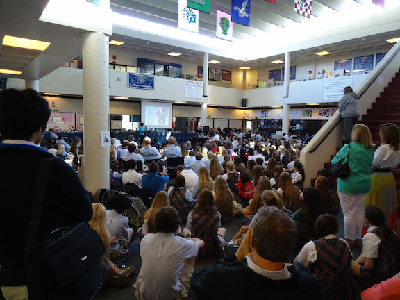 An Audience Of 400 People At Country Day School