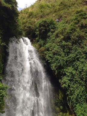 The Cascada Was Still Flowing Well, Even Though Otavalo Is Entering A Dry Season
