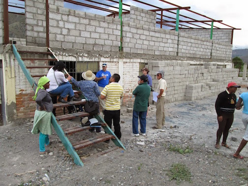 Discussing Completion Of Building