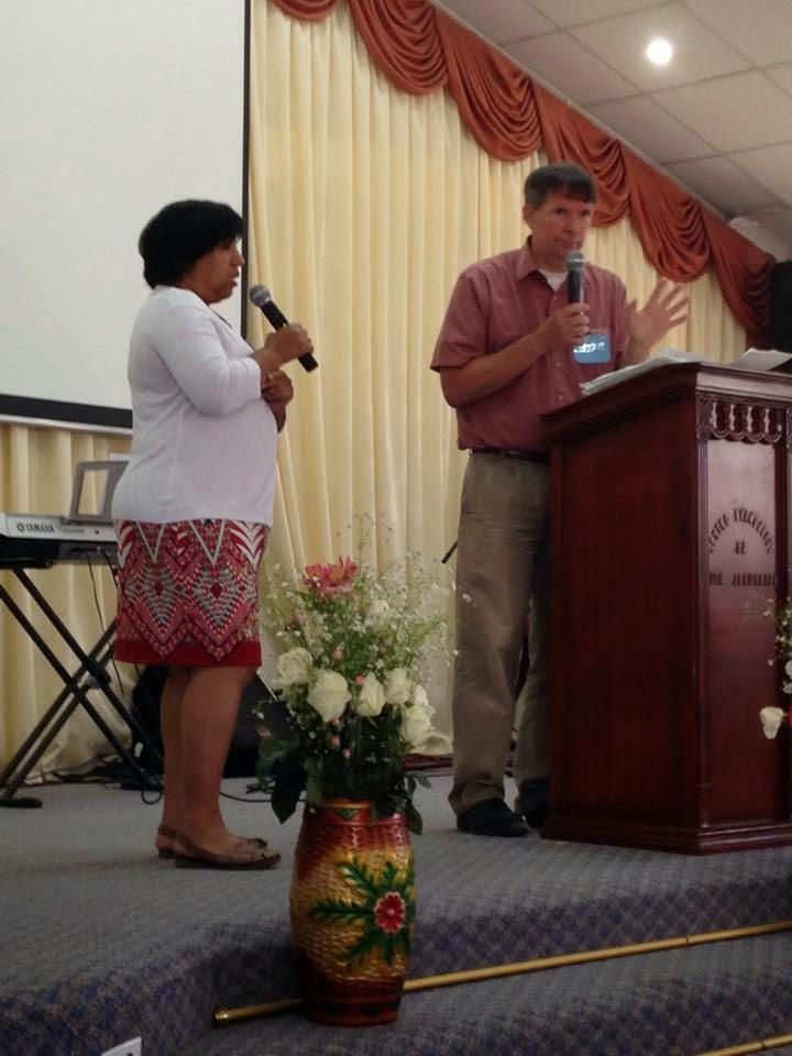 Bernice Rivera Translating David Eggleston's Sermon