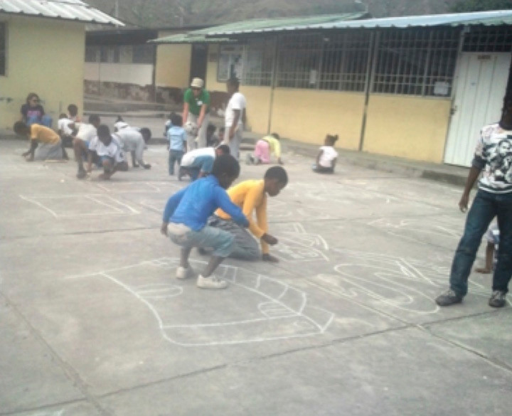 Drawing In The Courtyard