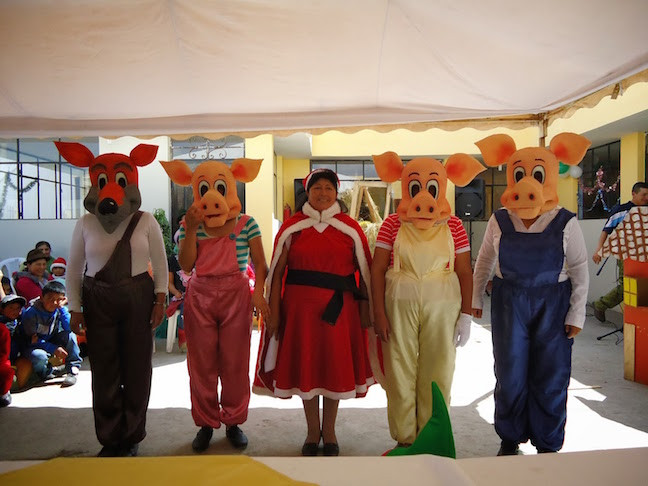 Three Little Pigs, Wolf, And Mrs. Claus