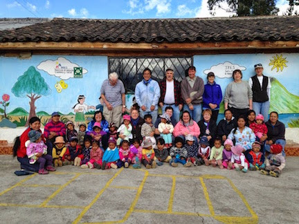 Photo Op With The Children Of Caluquí's Violet Groth Vaca Daycare Center