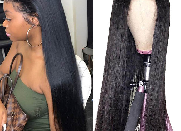 360/13x4 Lace Frontal Wig Remy Brazilian Straight Lace Frnt Human Hair Wigs
