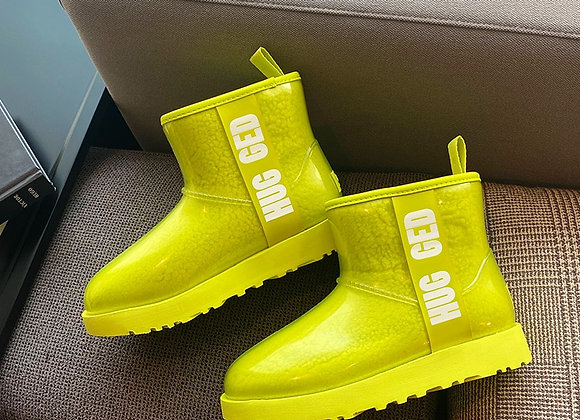 2020  New Snow Boots Women's Natural Sheep Fur Integrated Booties Star Models