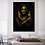 Thumbnail: African Art Black and Gold Woman With Necklace on Canvas Painting