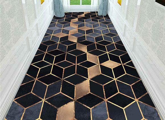 Nordic 3D Stereo Printing Corridor Carpet Area Rugs
