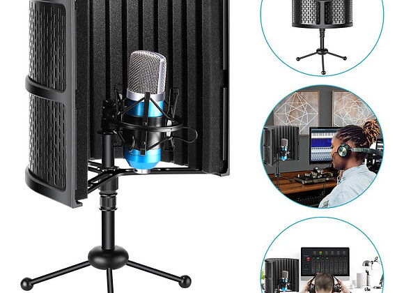Neewer Tabletop Compact Microphone Isolation Shield+Tripod Stand