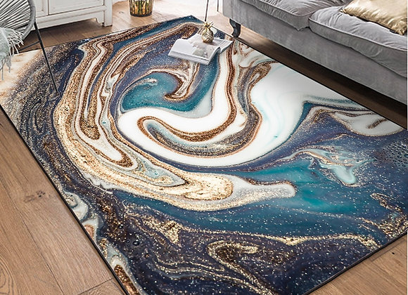 Modern Abstract  Marble Carpet Bedroom Living Room