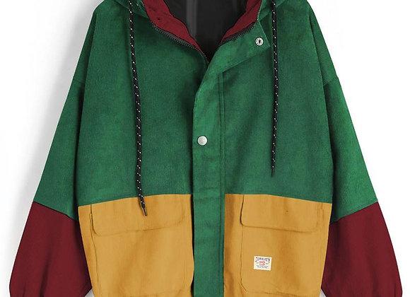 Outerwear Coats Jackets Corduroy Patchwork Oversize Jacket