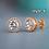 Thumbnail: Huitan Fashion Geometric Women Stud Earrings Cubic Zirconia