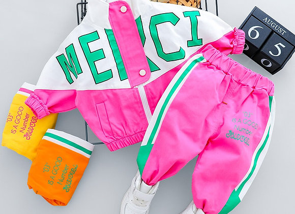 2021  Kid Boy Girl Clothing New Casual Tracksuit Long Sleeve