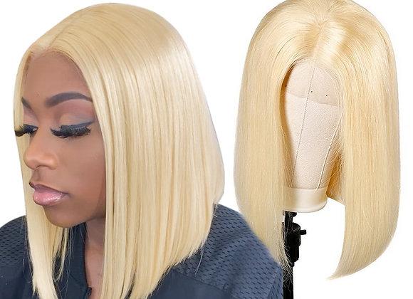 Human Hair Wigs Brazilian Straight Short Bob Wig 13x1x6 T Prt Trnsprnt Lace Wig