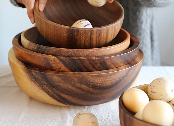 Acacia Wooden Bowl Japanese Style Wooden Tableware