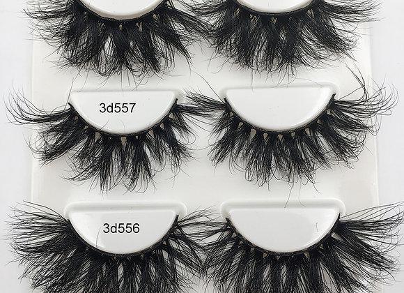 Fluffy Lashes 100% 3d Mink Lashes Dramatic Soft Volume Natural Eyelashes